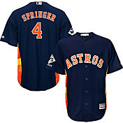Majestic Men's 2017 World Series Champions Replica Houston Astros George Springer Cool Base Alternate Navy Jersey