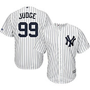 Majestic Men's Replica New York Yankees Aaron Judge #99 Cool Base Home White Jersey
