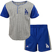 Majestic Toddler Los Angeles Dodgers Batter Up Shorts & Top Set