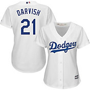 Majestic Women's Replica Los Angeles Dodgers Yu Darvish #21 Cool Base Home White Jersey