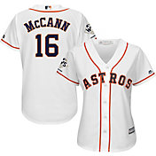 Majestic Women's 2017 World Series Champions Replica Houston Astros Brian McCann Cool Base Home White Jersey