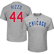 Majestic Youth Chicago Cubs Anthony Rizzo #44 Grey T-Shirt