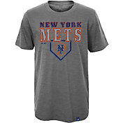Majestic Youth New York Mets Heirloom Grey T-Shirt