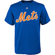 Majestic Youth New York Mets Wordmark Royal T-Shirt