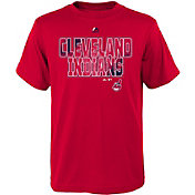 Majestic Youth Cleveland Indians Spark Red T-Shirt