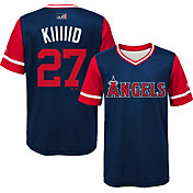 Majestic Youth Los Angeles Angels Mike Trout 'Kiiiiid' MLB Players Weekend Jersey Top