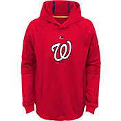 Majestic Youth Washington Nationals Performance Red Pullover Hoodie