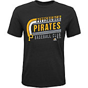 Majestic Youth Pittsburgh Pirates Tri-Blend Curveball Black T-Shirt