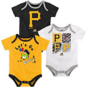 Majestic Infant Pittsburgh Pirates 3-Piece Onesie Set