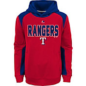 Majestic Youth Texas Rangers Therma Base Geo Fuse Red Hooded Fleece