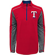 Majestic Youth Texas Rangers Club Series Red Quarter-Zip Fleece