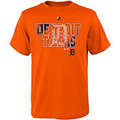 Majestic Youth Detroit Tigers Spark Orange T-Shirt