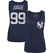 Majestic Threads Women's New York Yankees Aaron Judge Navy Tank Top