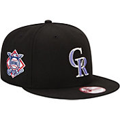 New Era Men's Colorado Rockies 9Fifty Black Adjustable Hat