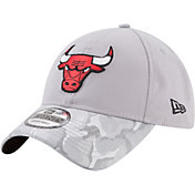 New Era Men's Chicago Bulls 9Twenty Grey Camo Adjustable Hat