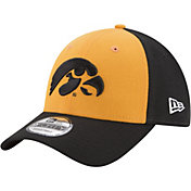 New Era Men's Iowa Hawkeyes Gold/Black The League Blocked 9FORTY Adjustable Hat