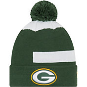New Era Men's Green Bay Packers Logo Whiz Cuffed Knit Hat