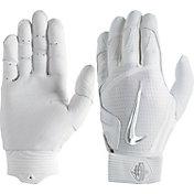 nike huarache elite batting gloves grey