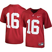 Nike Boys' Alabama Crimson Tide #16 Crimson Game Football Jersey