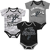 NBA Infant San Antonio Spurs 3-Piece Onesie Set