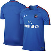 Nike Mens Paris Saint-Germain Breathe Squad Blue Training Shirt