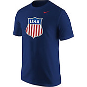 Nike Men's USA Hockey Crest Royal T-Shirt
