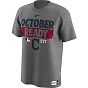 Nike Men's Cleveland Indians 2017 MLB Postseason Dri-FIT Authentic Collection 'October Ready' Grey T-Shirt