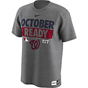 Nike Men's Washington Nationals 2017 MLB Postseason Dri-FIT Authentic Collection 'October Ready' Grey T-Shirt