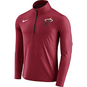 Nike Men's Miami Heat Dri-FIT Red Element Half-Zip Pullover