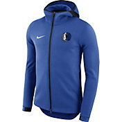 Nike Men's Dallas Mavericks On-Court Royal Dri-FIT Showtime Full-Zip Hoodie