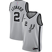 Nike Men's San Antonio Spurs Kawhi Leonard #2 Grey Statement Dri-FIT Swingman Jersey