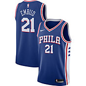 Nike Men's Philadelphia 76ers Joel Embiid #21 Royal Dri-FIT Swingman Jersey