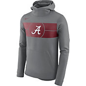 Nike Men's Alabama Crimson Tide Grey Basketball Performance Fan Hoodie