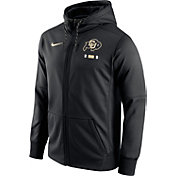 Nike Men's Colorado Buffaloes Black Therma-FIT Full-Zip Football Hoodie