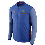 Nike Men's Florida Gators Blue Coach Half-Zip Football Sideline Jacket