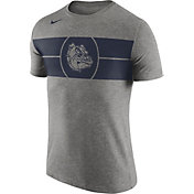 Nike Men's Gonzaga Bulldogs Grey Logo Basketball T-Shirt