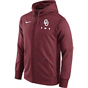 Nike Men's Oklahoma Sooners Crimson Therma-FIT Full-Zip Football Hoodie