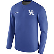 Nike Men's Kentucky Wildcats Blue Modern Football Sideline Crew Long Sleeve Shirt