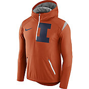 Nike Men's Illinois Fighting Illini Orange Fly Rush Football Jacket