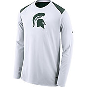 Nike Men's Michigan State Spartans Elite Shooter White Long Sleeve Shirt
