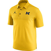 Nike Men's Michigan Wolverines Maize Elite Football Sideline Polo