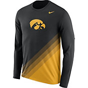 Nike Men's Iowa Hawkeyes Black/Gold Football Sideline Dri-FIT Long Sleeve Shirt