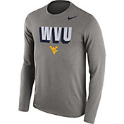 Nike Men's West Virginia Mountaineers Grey Dri-FIT Franchise Long Sleeve T-Shirt