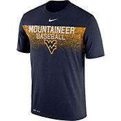 Nike Men's West Virginia Mountaineers Blue Dri-Fit Team Issue Performance Baseball T-Shirt