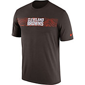 Nike Men's Cleveland Browns Sideline Seismic Legend Performance Brown T-Shirt