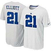 Nike Men's Dallas Cowboys Ezekiel Elliott #21 Pride White T-Shirt