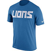 Nike Men's Detroit Lions Essential Wordmark Performance Blue T-Shirt
