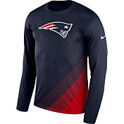 Nike Men's New England Patriots Sideline 2017 Prism Long Sleeve Performance Shirt
