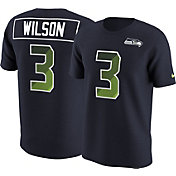 Nike Men's Seattle Seahawks Russell Wilson #3 Prism Player Navy T-Shirt