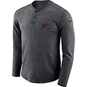 Nike Men's Houston Texans Henley Charcoal Long Sleeve Shirt